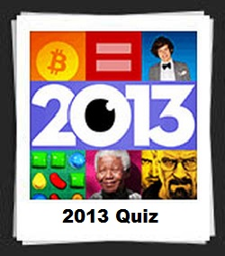 100 Pics 2013 Quiz Answers
