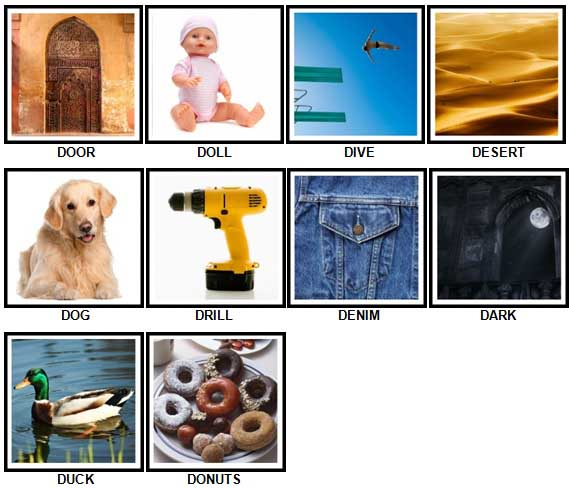 100 Pics D is For Answers 1-10