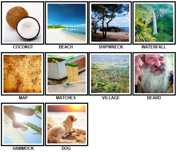 100 Pics Desert Island Answers 1-10