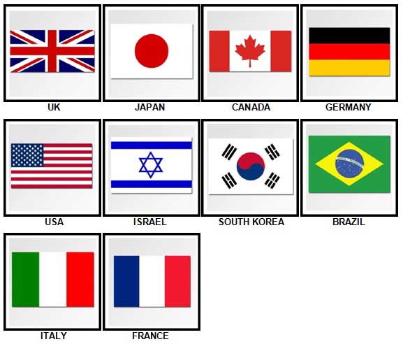 100 Pics Flags Answers 1-10