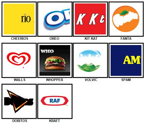 100 Pics Food Logos Answers 1-10