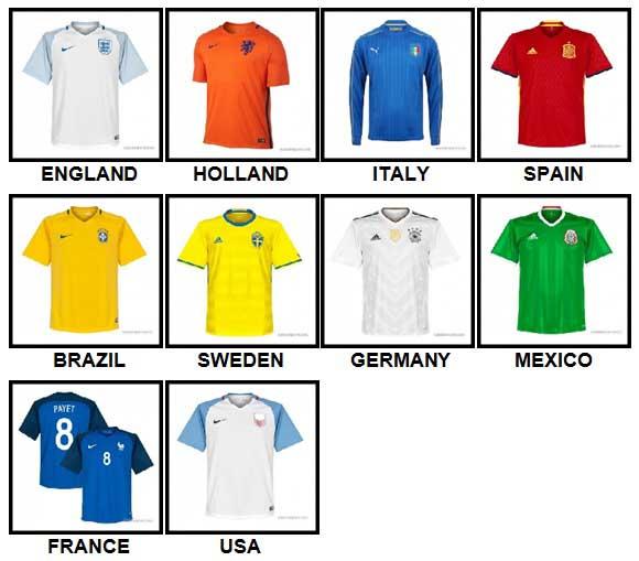 100 Pics Football World Answers Level 1-10