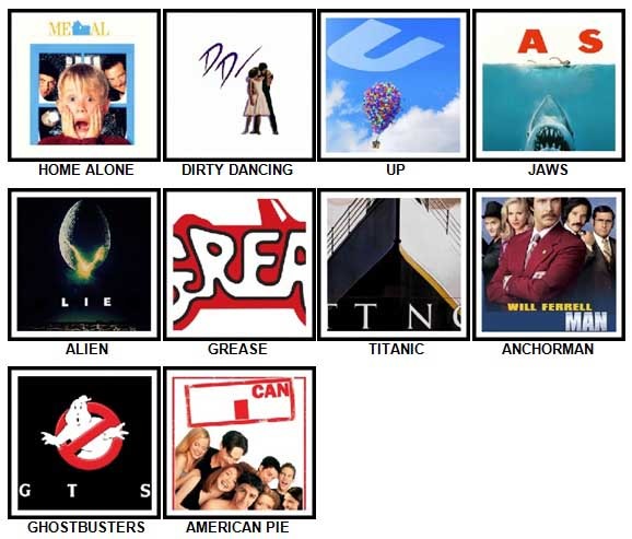 100 Pics Movie Logos Answers 1-10