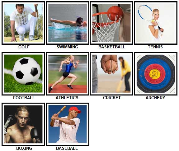 100 Pics Sports Answers 1-10
