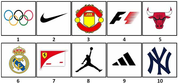 100 Pics Sports Logo Answers Level 1-10