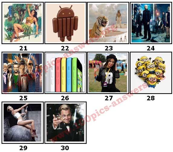 100 Pics 2013 Quiz Answers Level 21
