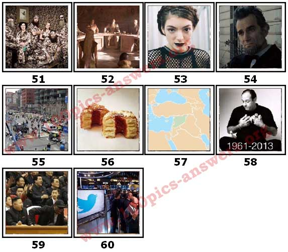100 Pics 2013 Quiz Answers Level 51