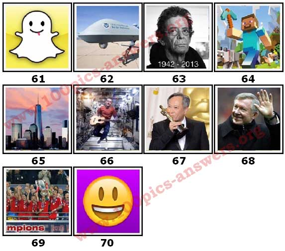 100 Pics 2013 Quiz Answers Level 61