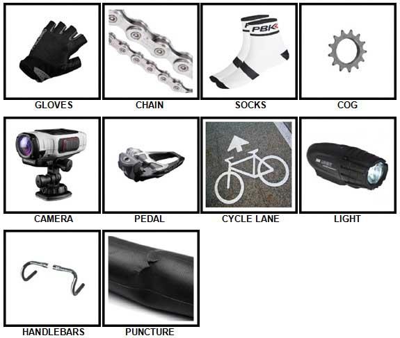 100 Pics Cycling Answers 1-10