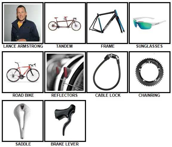 100 Pics Cycling Level 11-20 Answers