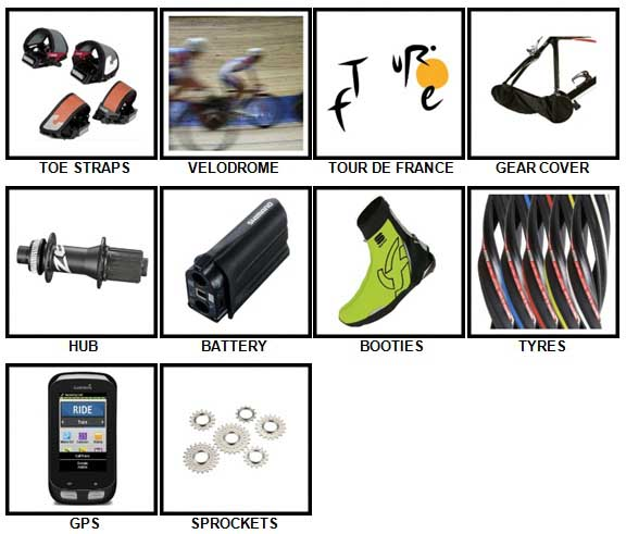 100 Pics Cycling Level 21-30 Answers