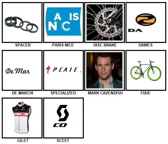100 Pics Cycling Level 41-50 Answers