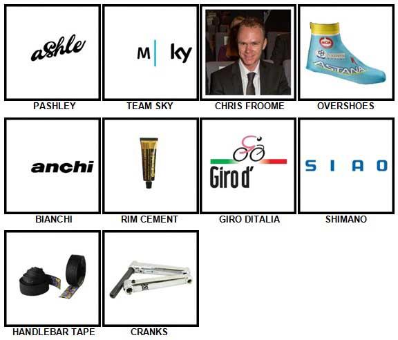 100 Pics Cycling Level 61-70 Answers