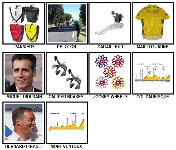 100 Pics Cycling Level 91-100 Answers