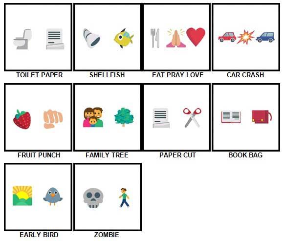 100 Pics Emoji Quiz 3 Level 21-30 Answers