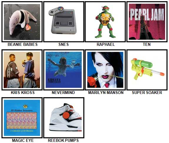 100 Pics I Love 1990s Answers 21-30