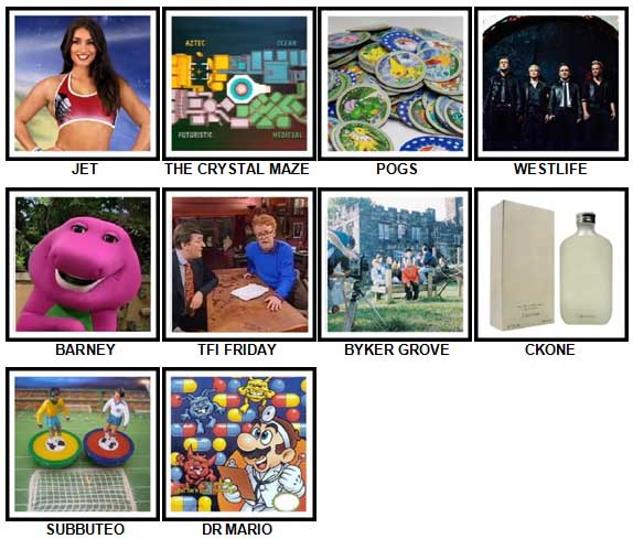 100 Pics I Love 1990s Answers 41-50