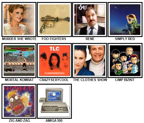 100 Pics I Love 1990s Answers 61-70