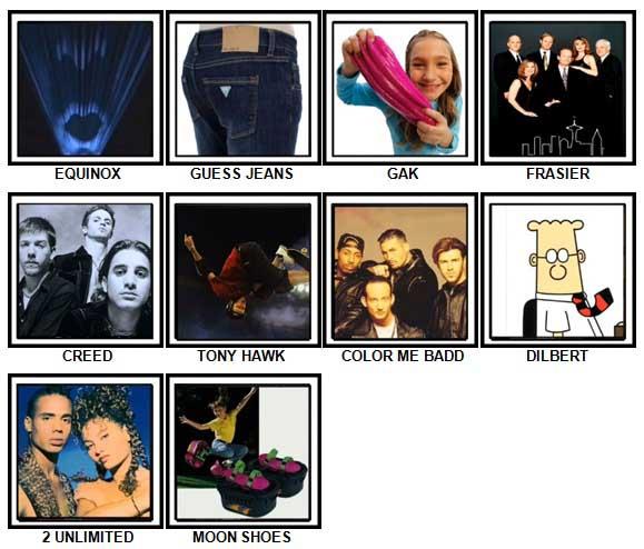 100 Pics I Love 1990s Answers 91-100