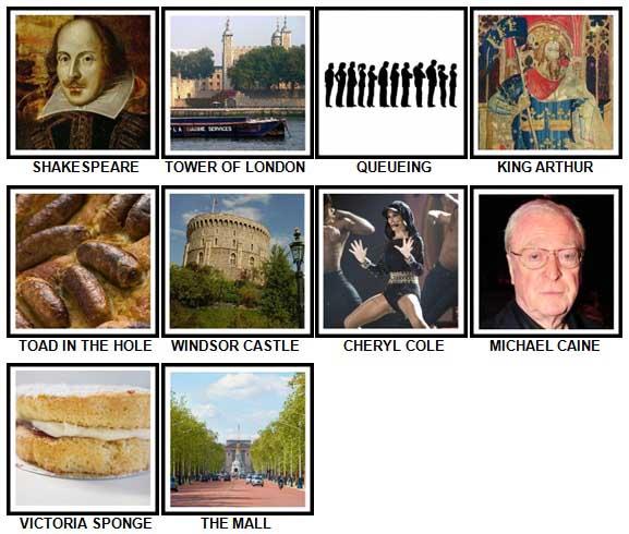 100 Pics I Love UK Level 61-70 Answers