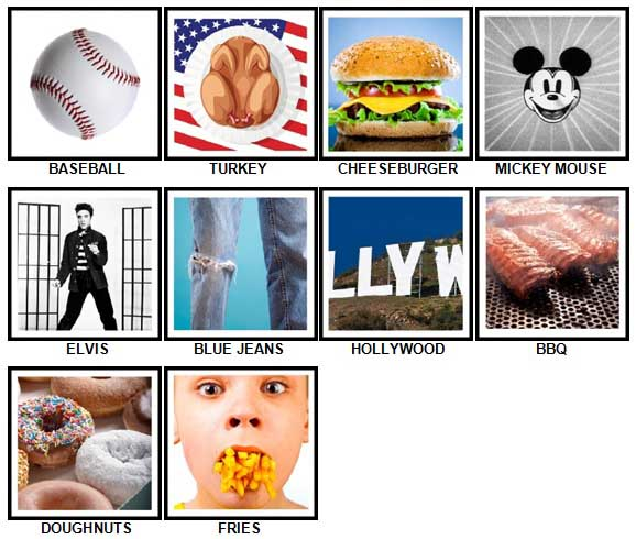100 Pics I Love USA Answers 1-10
