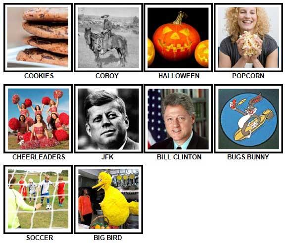 100 Pics I Love USA Level 11-20 Answers