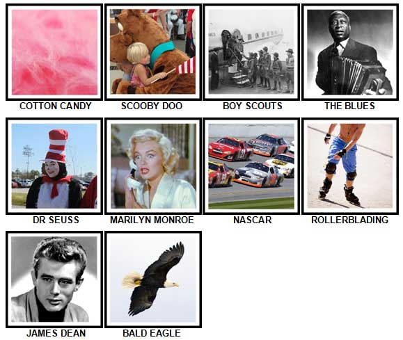100 Pics I Love USA Level 31-40 Answers