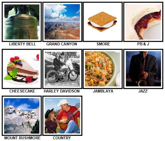 100 Pics I Love USA Level 41-50 Answers
