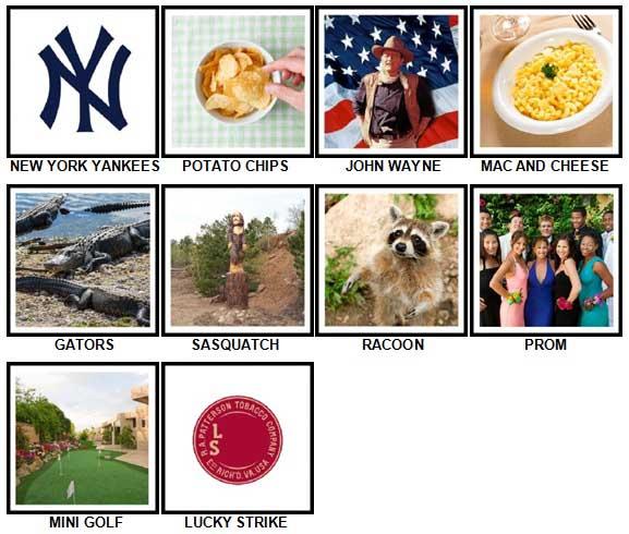 100 Pics I Love USA Level 51-60 Answers