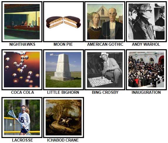 100 Pics I Love USA Level 81-90 Answers