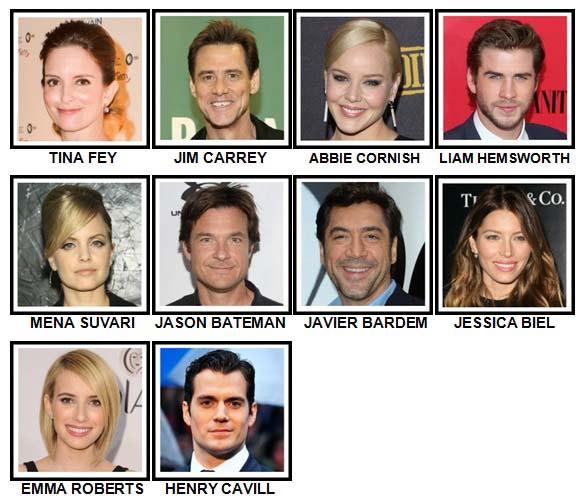 100 Pics Movie Stars Level 81-90 Answers
