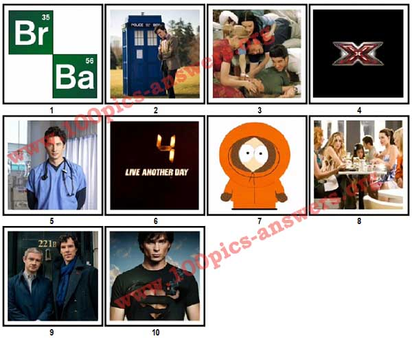 100 Pics TV Shows Answers Level 1