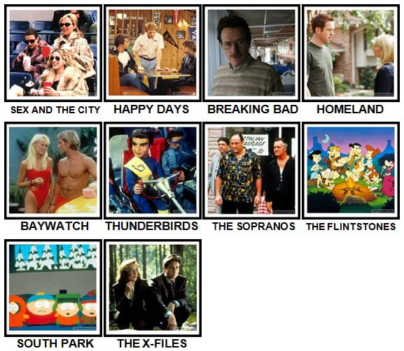 100 Pics TV Shows Level 11-20 Answers