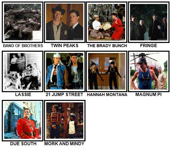 100 Pics TV Shows Level 71-80 Answers