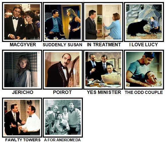 100 Pics TV Shows Level 91-100 Answers