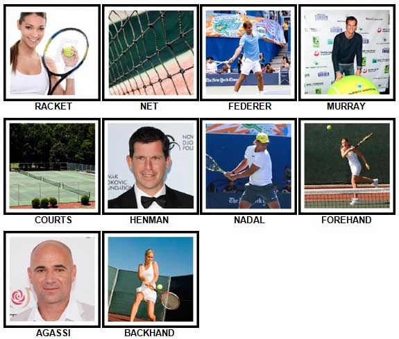 100 Pics Tennis Answers 1-10