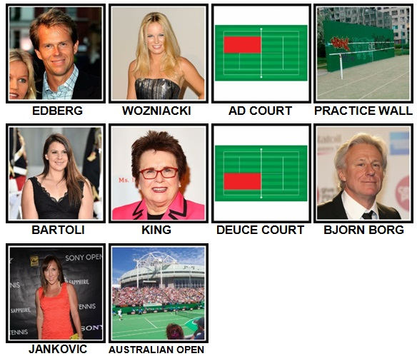 100 Pics Tennis Level 61-70 Answers
