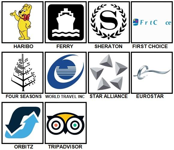 100 Pics Vacation Logos Level 21-30 Answers