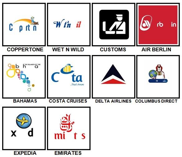 100 Pics Vacation Logos Level 61-70 Answers