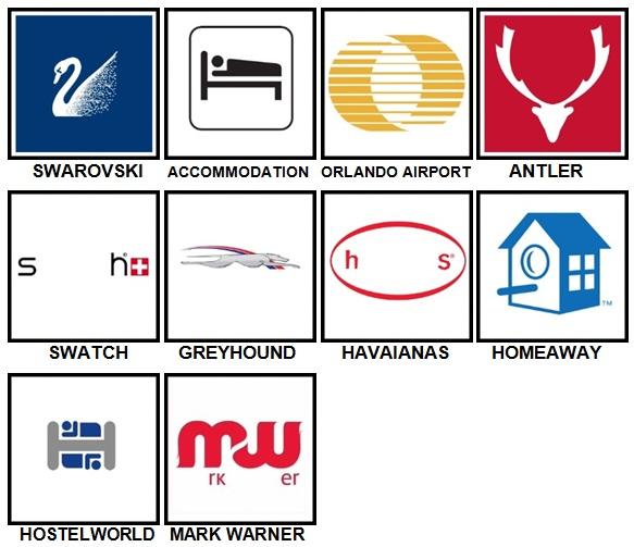 100 Pics Vacation Logos Level 81-90 Answers