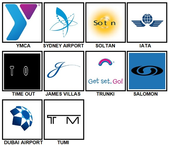 100 Pics Vacation Logos Level 91-100 Answers