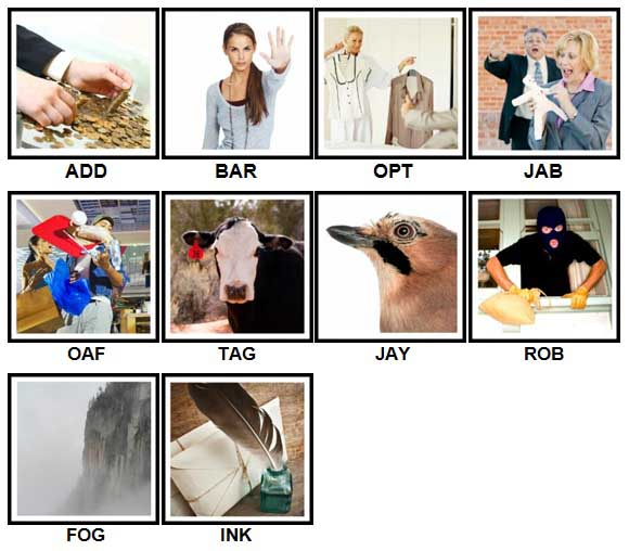 100 Pics 3 Letter Words Level 61-70 Answers