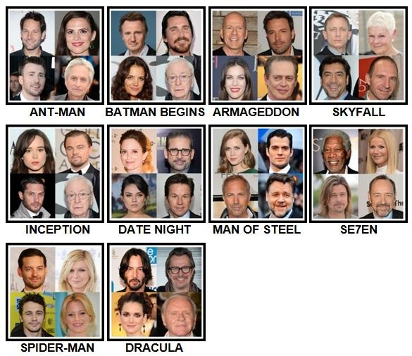 100 Pics 4 Stars 1 Movie Level 21-30 Answers