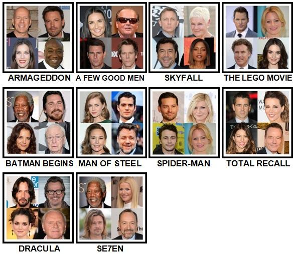 100 Pics 4 Stars 1 Movie Level 21-30
