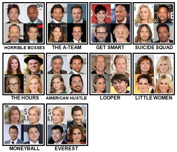 100 Pics 4 Stars 1 Movie Level 41-50 Answers