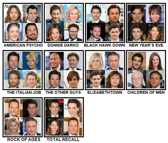 100 Pics 4 Stars 1 Movie Level 61-70 Answers
