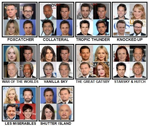 100 Pics 4 Stars 1 Movie Level 71-80 Answers