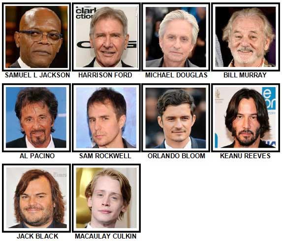 100 Pics Actors Level 11-20 Answers