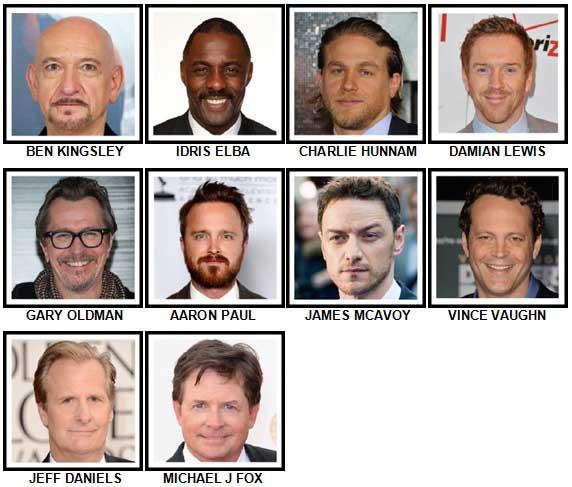 100 Pics Actors Level 51-60 Answers