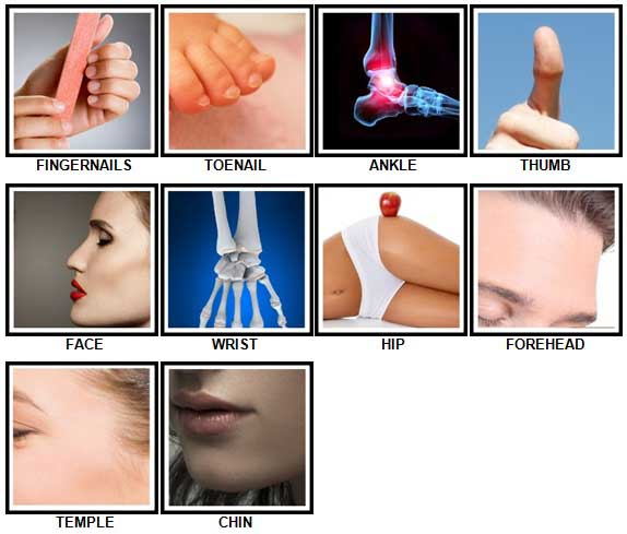 100 Pics Body Parts Answers 21-30